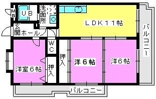 エントピア那珂川2 / 301号室間取り