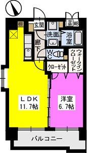 ベスタ櫛原 / 206号室間取り