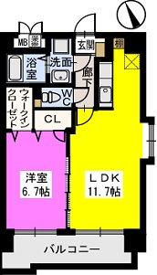 ベスタ櫛原 / 701号室間取り