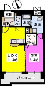 ベスタ櫛原 / 705号室間取り