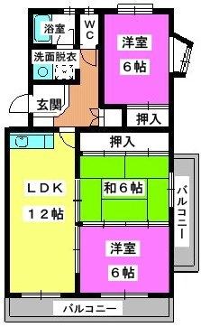 ロイヤルハウス天神 / 301号室間取り