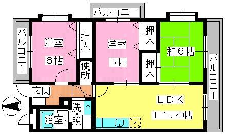 アネックス副翠 / 301号室間取り