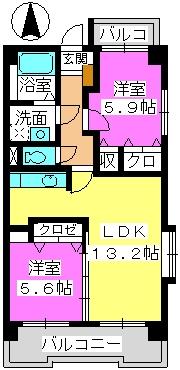 Taka Sunrise / 401号室間取り