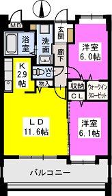 エターナルK / 703号室間取り