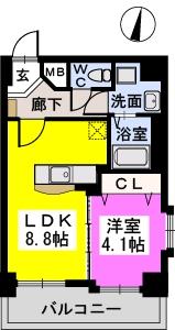 メゾンド オハナ / 701号室間取り