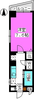 パークハイム大濠 / 301号室間取り