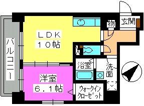 コンフォール博多駅南 / 902号室間取り
