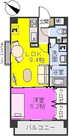 サンライズ F / 501号室間取り