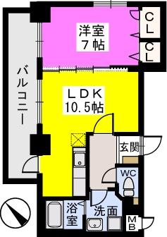 チュリスK1 / 603号室間取り