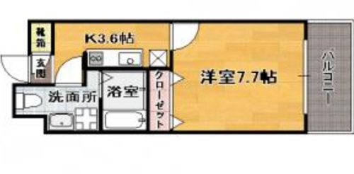 ローズモント・フレア博多駅前 / 402号室間取り